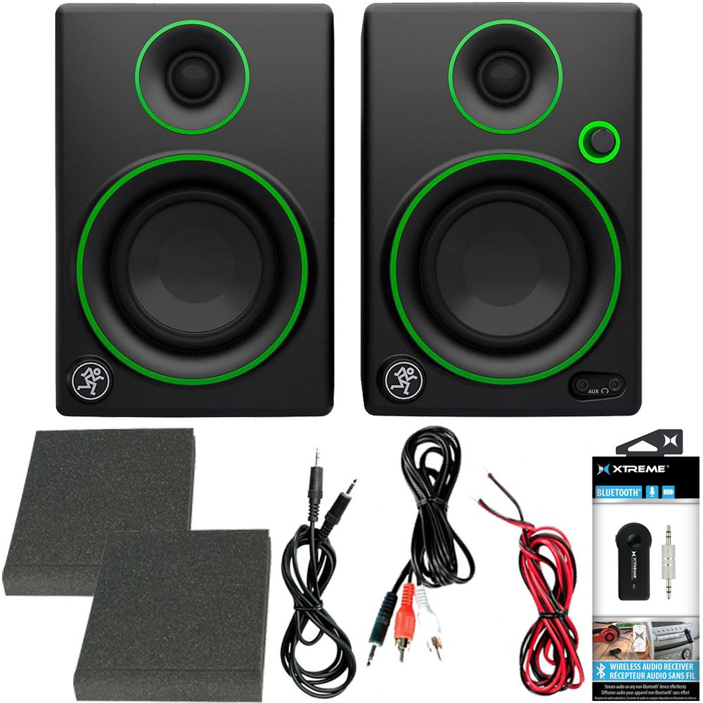 Mackie CR Series CR3 - 3'' Creative Reference Multimedia Monitors (Pair) + Includes Bluetooth 2-in-1 Wireless Audio Receiver