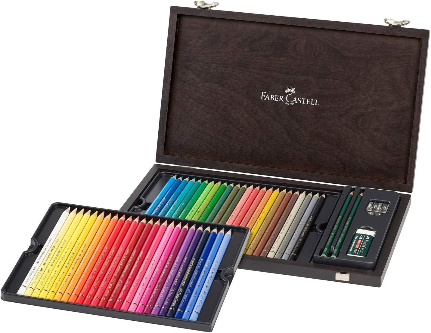 Faber-Castell 110006 Polychromo - Caja de 48 lápices de colores Polychromos, resistente al agua, a la rotura, para profesionales y artistas aficionados, multicolor: Amazon.es: Juguetes y juegos