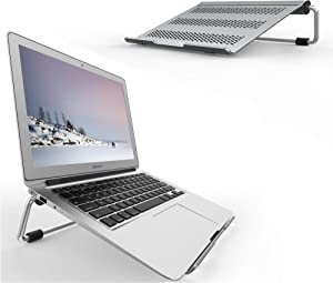Lamicall Laptop Stand, Adjustable Notebook Stand : Ventilated Laptop Riser Holder Compatible with Laptops Such as MacBook Air Pro, Dell XPS, Microsoft, HP, Lenovo More Laptops up to 17 inch- Gray