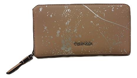 Calvin Klein - Cartera para mujer Beige Nude Splash Print ...