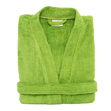 dfbaeb83bf Amazon.com  Terry Cloth Bathrobe %100 Cotton Men s Women s Green Robe  Perfect Gift  Clothing