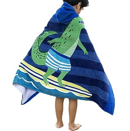 Comfysail Kids Hooded Beach Bath Towel 100/% Cotton Super Soft Childrens Poncho Swimming Girls Boys /(Dolphin/)