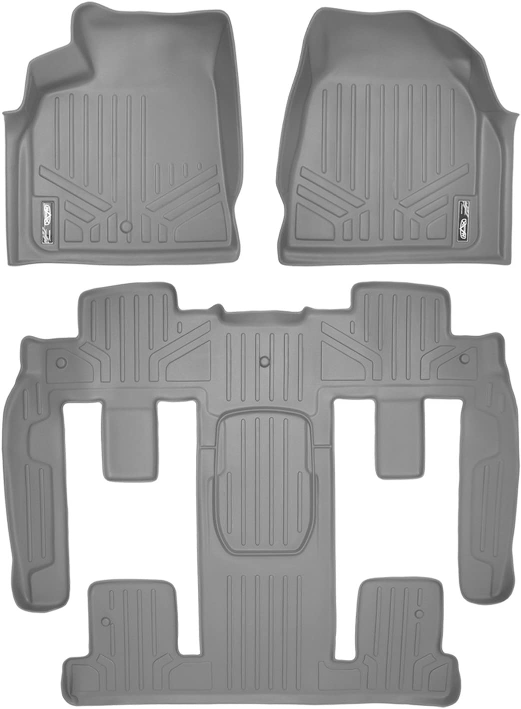 with 2nd Row Bucket Seats SMARTLINER Custom Fit Floor Mats 2 Row Liner Set Black for Traverse//Enclave//Acadia//Outlook