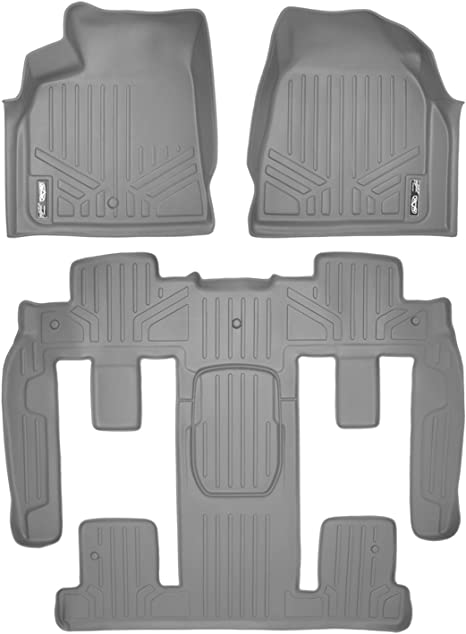 MAXLINER Floor Mats for Traverse Enclave Acadia Outlook 1stRow Set Grey