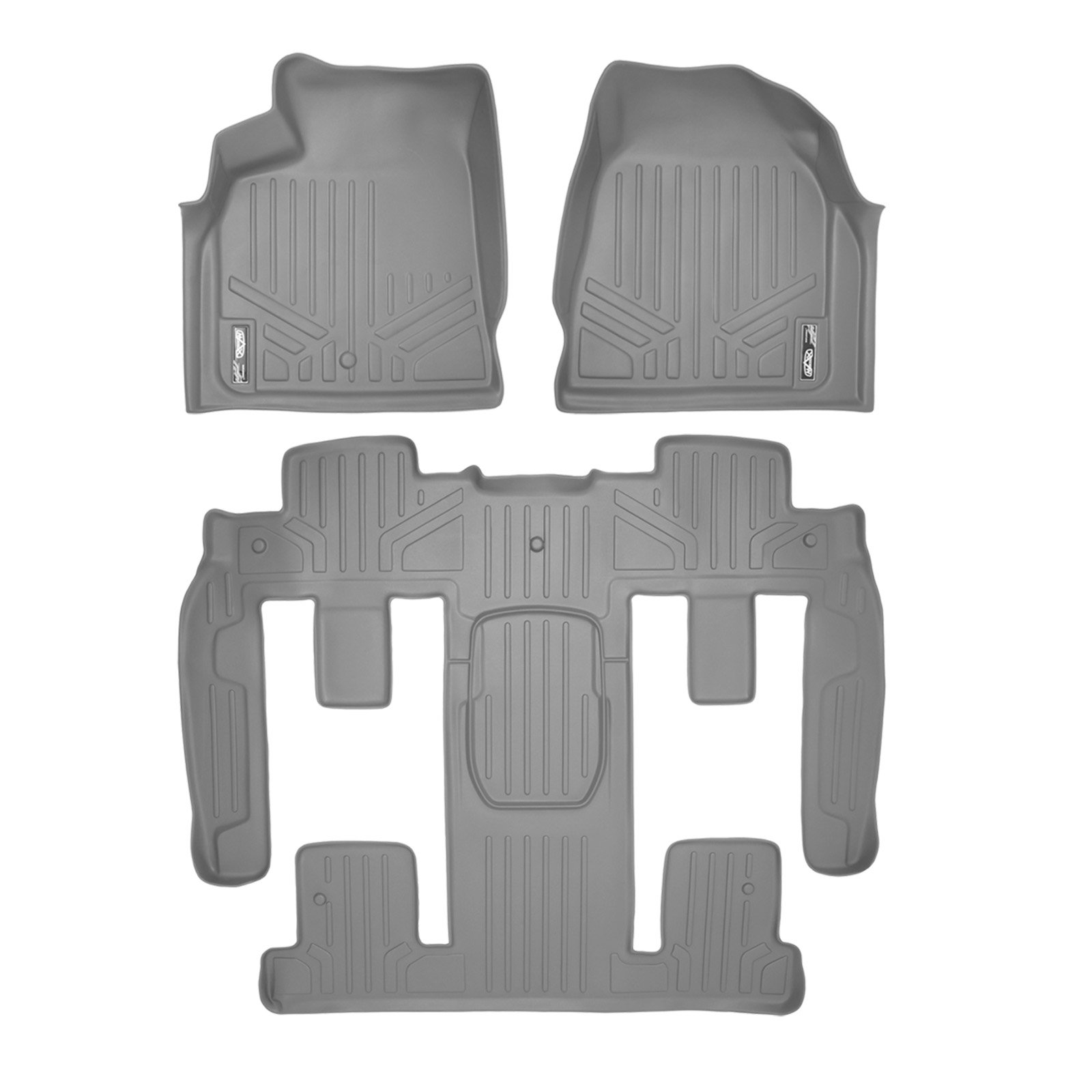 with 2nd Row Bucket Seats MAXLINER Floor Mats 2nd and 3rd Row Liner Black for Enclave//Acadia Outlook