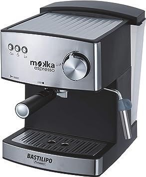 Bastilipo Mokka Expreso 20 Cafetera Express 850 W, 1.6 litros, Acero Inoxidable, Negro
