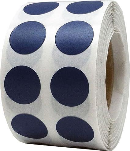 Blanc Cercle avec Noir Nombre 5 Autocollants 1000 /Étiquettes sur un Rouleau 13 mm 1//2 Pouce Ronde