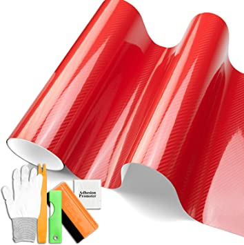 VViViD Red Matte Finish Vinyl Decal 5ft x 25ft Car Wrap with Air Release