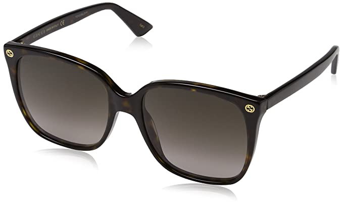 d74120291ad Gucci Women Design Sunglasses GG0022S 003 Havana Brown Gold With Dark lens