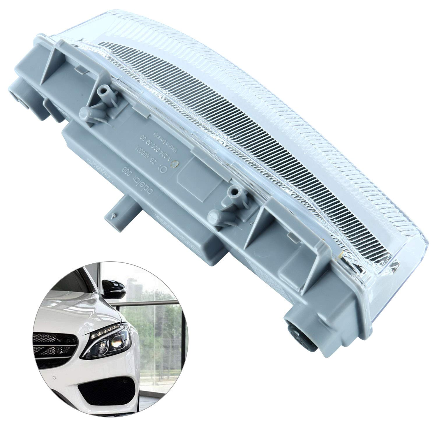 Left DRL Fog Lamp LED Daytime Running Lamp Fog Light Compatible with 2007-2015 Mercedes Benz C Class W204 C250 C300 C350 E Class W212 E350 Yae First Trading Co. Itd