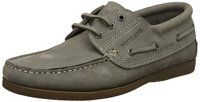 Stone Grey Leather Boat Shoes