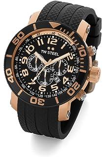 TW Steel Mens TW92 Grandeur Diver Black Rubber Chronograph Dial Watch