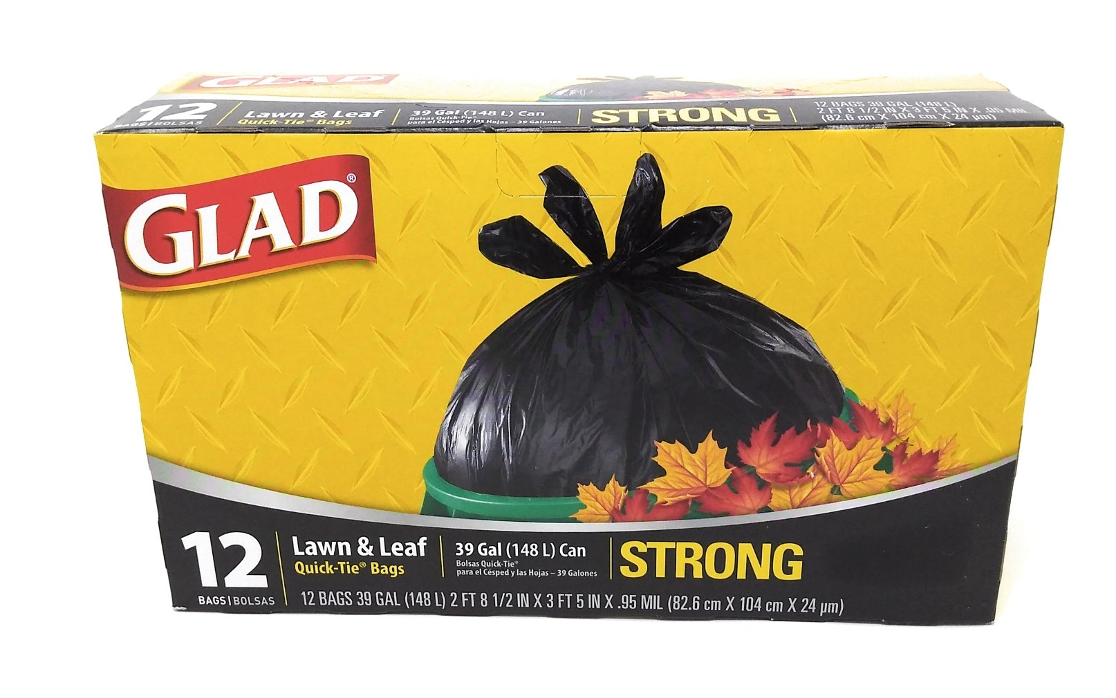 Glad 39 Gallon Quick Tie Lawn & Leaf Bags - 12 Packs
