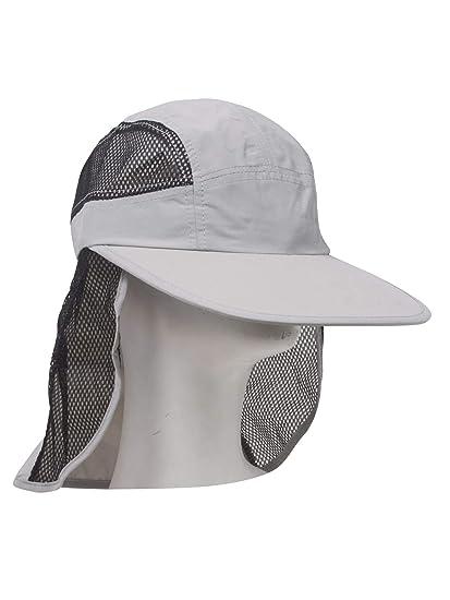 UV 50+ Protection Outdoor Flap Cap - Light Grey at Amazon Men s ... 01af597fc30
