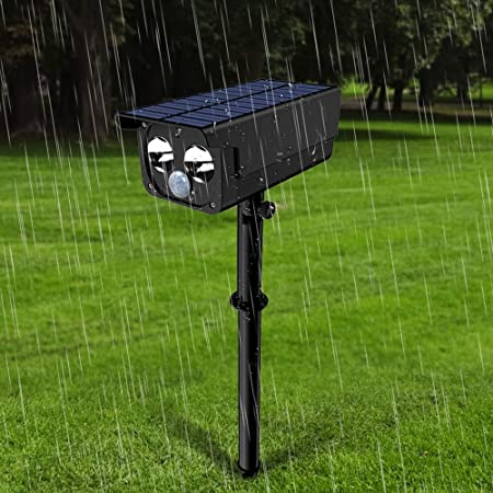 Luz Solar 2 LED 250 Lumen Súper Brillante Foco LED Solar Exterior, 4 Modos Lamparas de Jardin Solares con Sensor de Movimiento, IP65 Impermeable 180 Ángulo de Ajuste Luces Solares de Seguridad: Amazon.es: Hogar