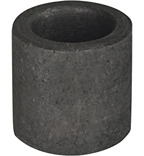Graphite Torch 10 oz Mini Crucible with Base For Melting Casting Refining Gold Silver Copper Scrap Jewelry