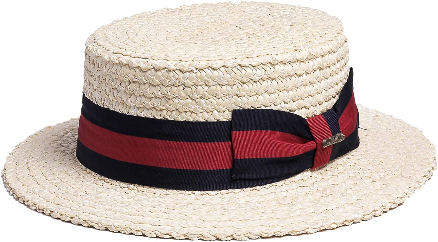 1940s Mens Hats | Fedora, Homburg, Pork Pie Hats Bellmora Mens Classic Straw Braid Boater Hat $49.99 AT vintagedancer.com