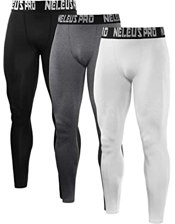 1211c906c906 Neleus Men's 2 Pack Compression Tights Sport Running Leggings Pants