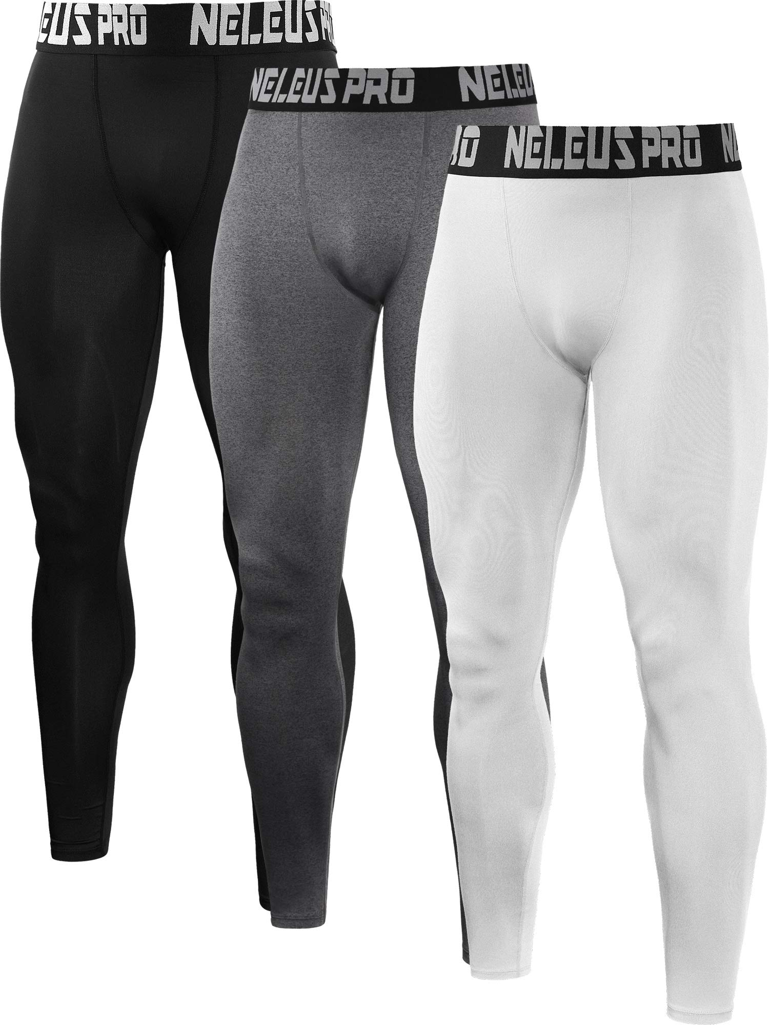 52aff9b808f Neleus Men s 2 Pack Compression Tights Sport Running Leggings Pants product  image