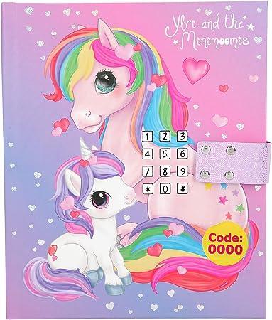Diario para niñas.,Diseño: Ylvi y los minimoomis con unicornio y pony.,Cierre con código secreto, LE