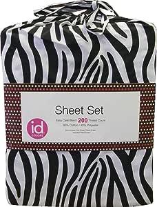 Amazon.com: 3pc Zebra Stripes Animal Print Bedding Twin ...
