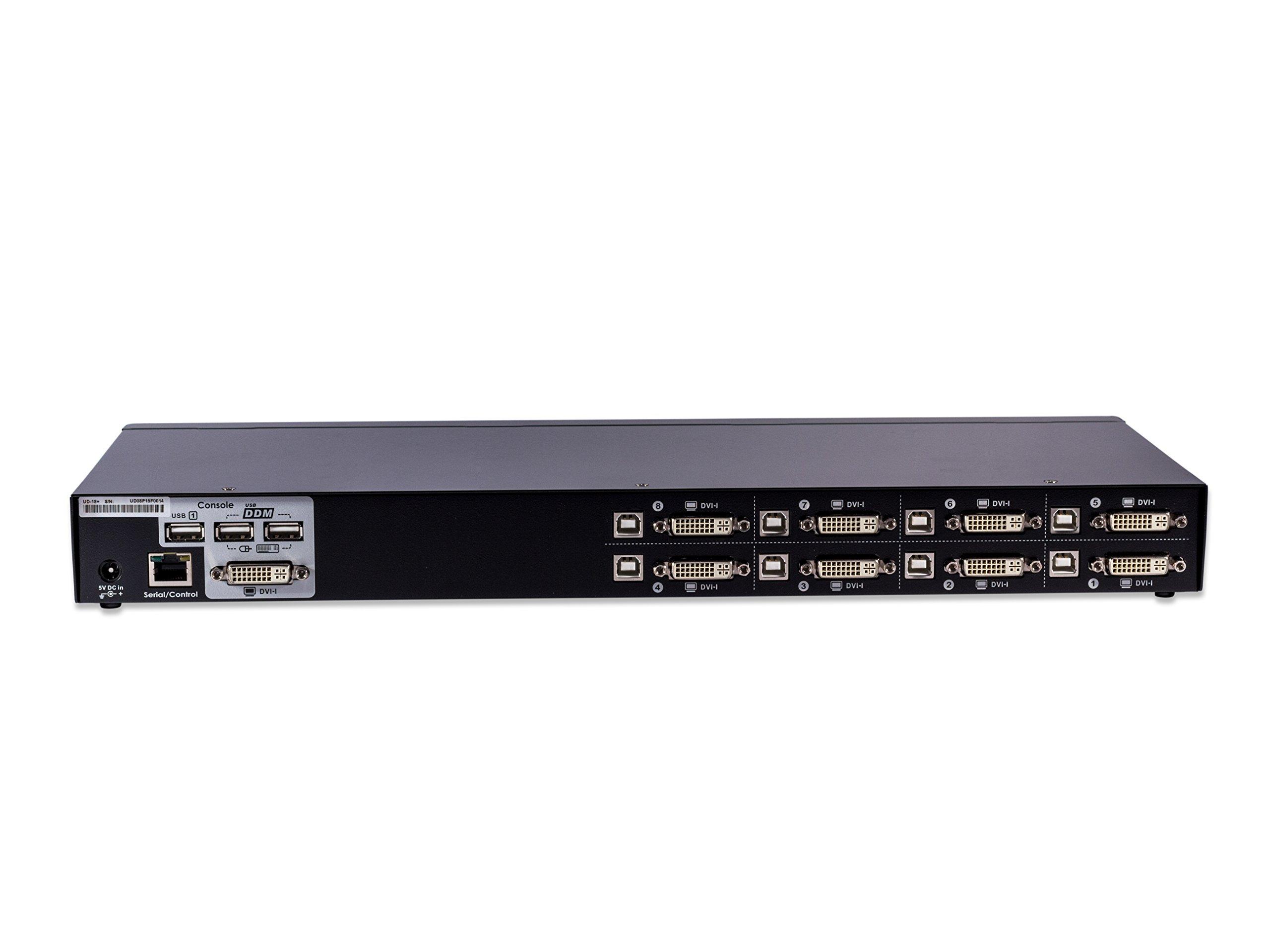 ConnectPro UD USB DVI KVM switch w/ DDM & multi-hotkey (8 Port, 6 ft) by ConnectPro (Image #2)