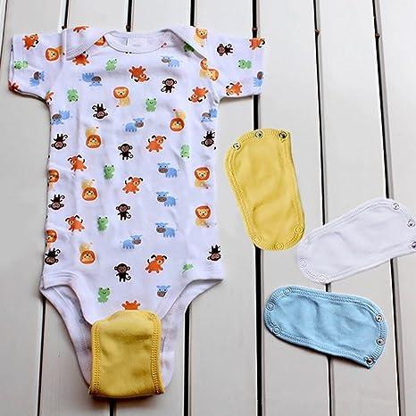 4 piezas suave universal ropa de beb/é para alargar la vida /útil amarillo amarillo ni/ños y ni/ñas para beb/és Extensor de traje de body