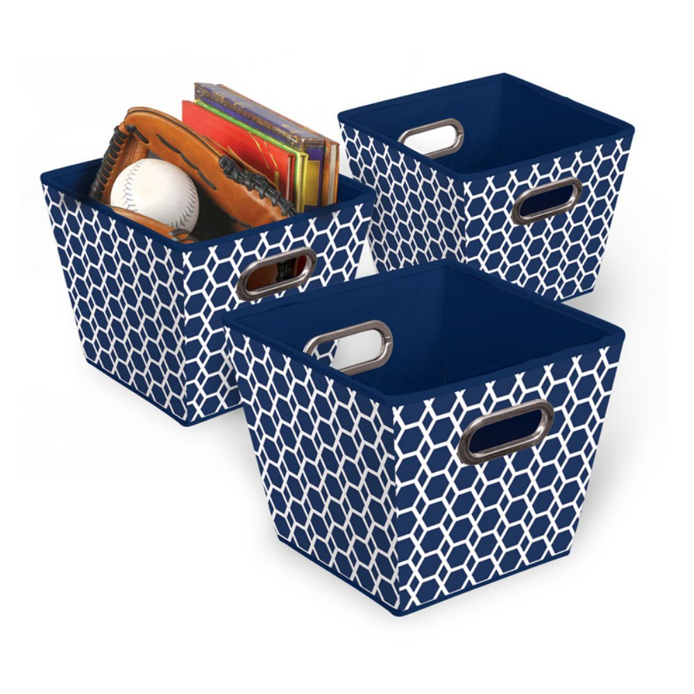 Bintopia Collapsible Fabric Closet Storage Bin 3 Pack