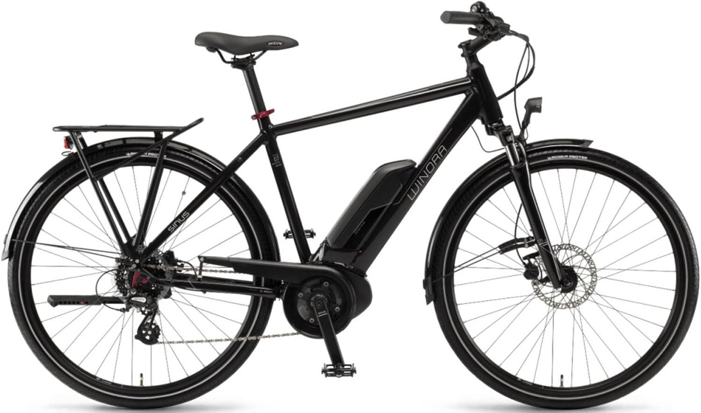 Unbekannt Winora Sinus Tria 7eco 400 WH Bosch Bicicleta eléctrica 2018, Color Schwarz Herren, tamaño 28