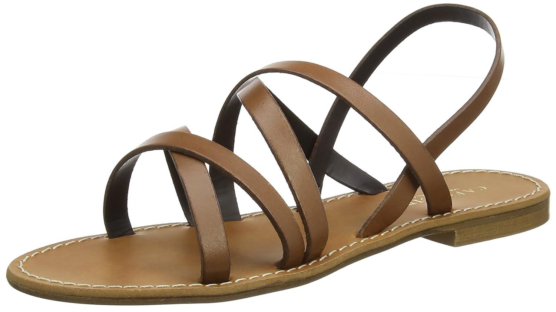 Womens Kge137 Sling Back Sandals, 109 Cuoio, 6.5 Cafènoir