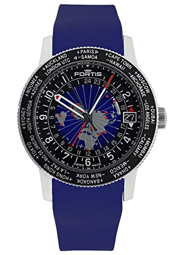 Fortis Hombre Reloj de pulsera b de 47 World Timer GMT Fecha Analógico Automático 674.21.11 SI.05: Amazon.es: Relojes