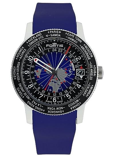 Fortis Hombre Reloj de pulsera b de 47 World Timer GMT Fecha Analógico Automático 674.21.