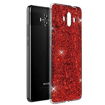 OKZone Funda Huawei Mate 10 Carcasa Purpurina, Cárcasa Brilla ...
