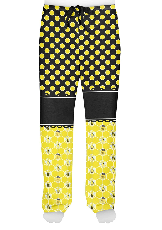 Honeycomb Personalized Bees /& Polka Dots Mens Pajama Pants