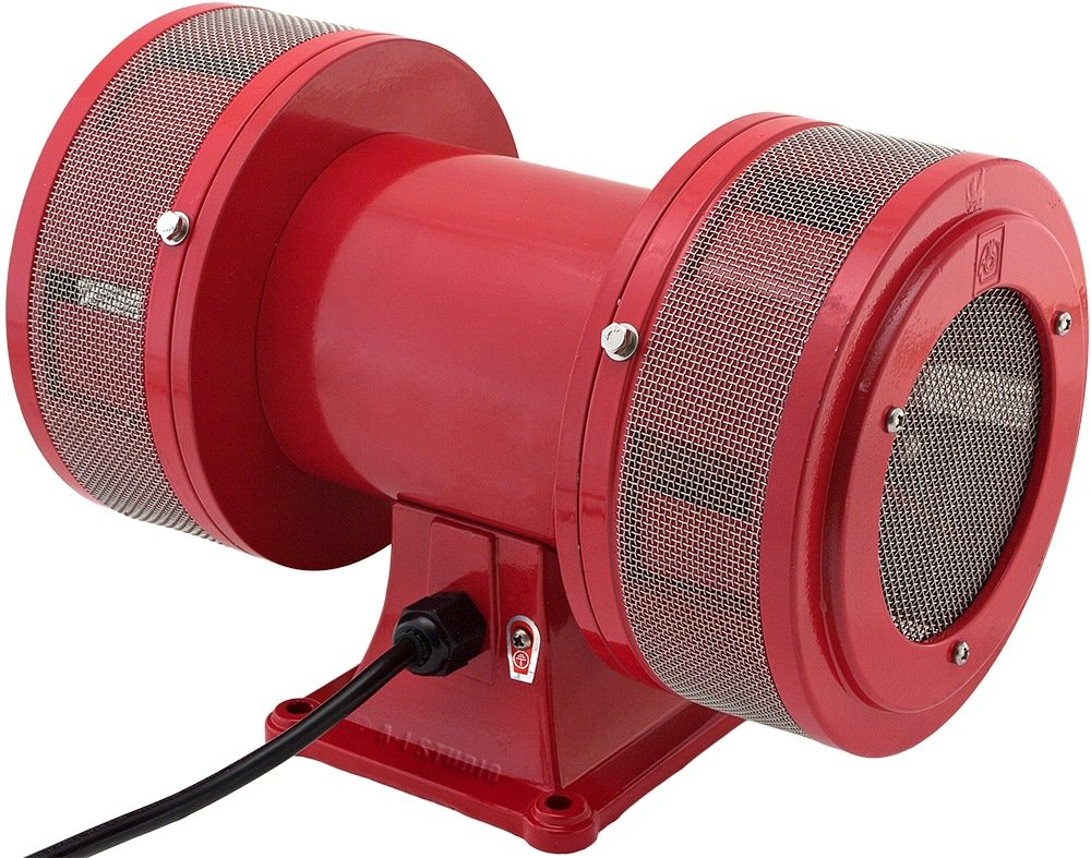 Vixen Horns Loud 145dB Industrial Electric Motor Driven Alarm/Siren (Air Raid) 120V VXS-1450AR