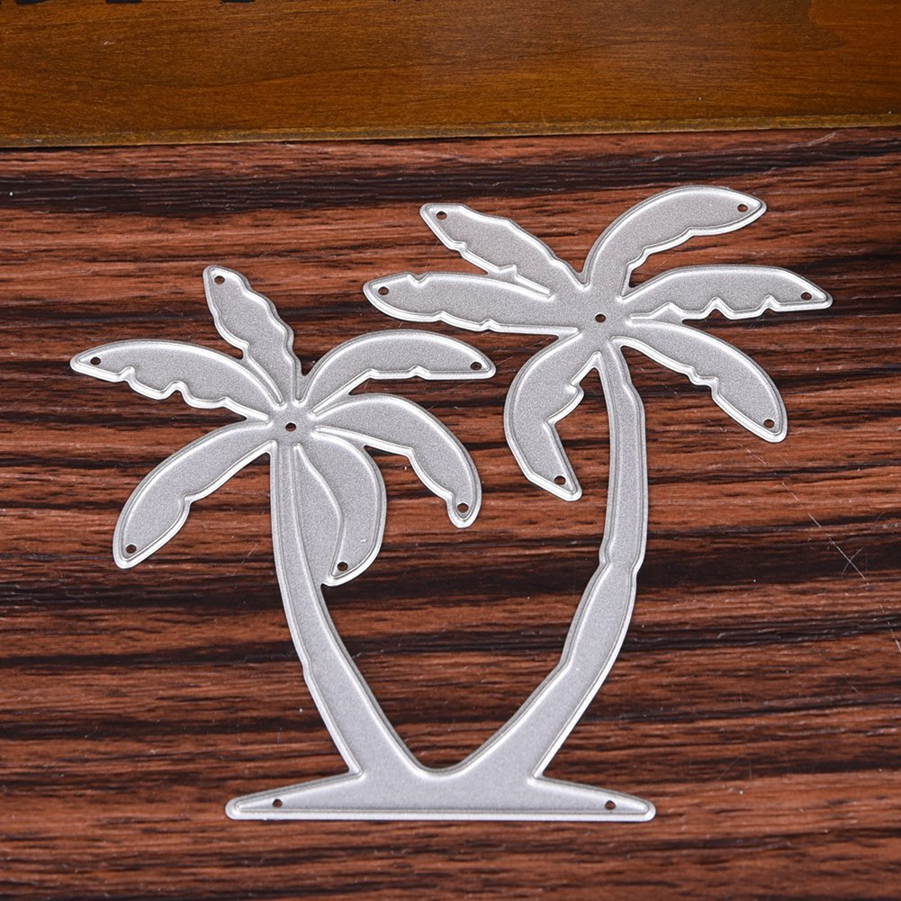 Taloyer 1pcs Palm Tree Metal Cutting Dies Creative Stencil Template Moulds for DIY Scrapbooking Album Paper Craft Card Making