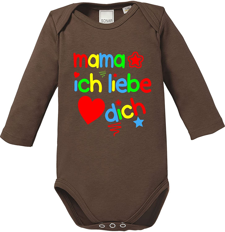 EZYshirt/® Papa ich Liebe Dich Baby T-Shirt Longsleeve