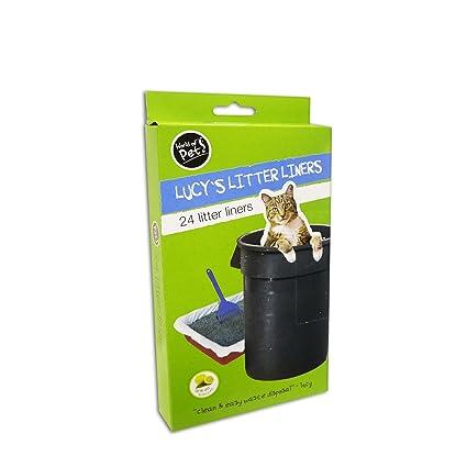 Bolsas de basura basura Bandeja de plástico 24 unidades Aserrín para gatos 30 x 70 cm