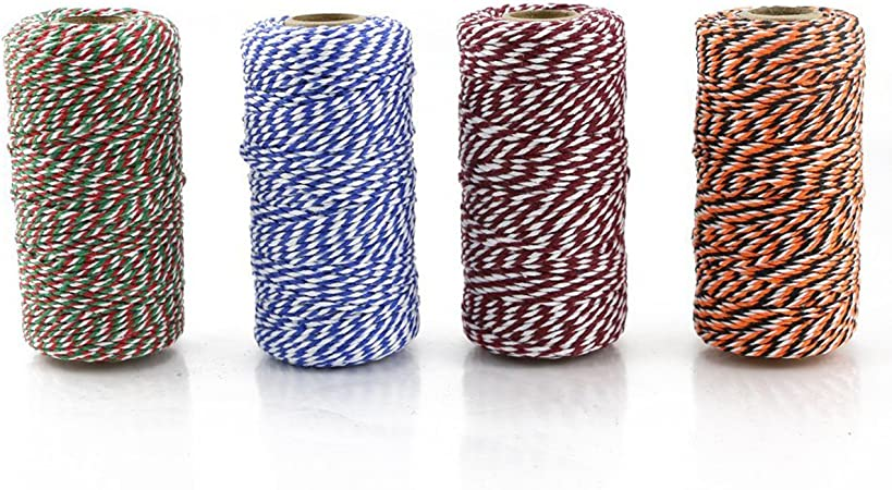 Twine Cotton String,400m 1312 Feet Cotton Bakers Twine Perfect for Baking Butchers Eison