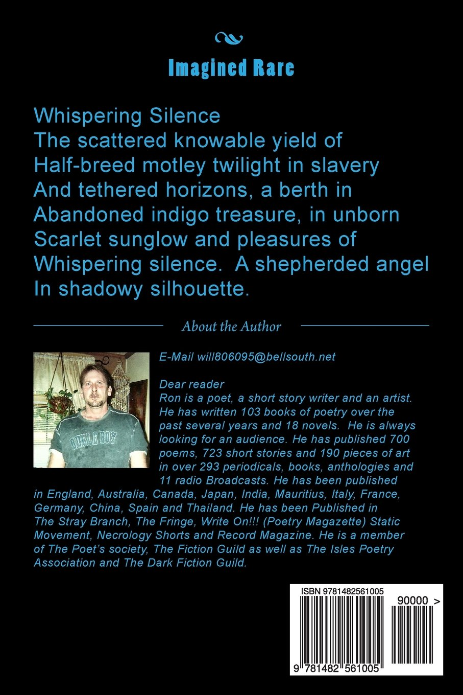 Imagined Rare: Poetry For The Tribe: Ron W Koppelberger Jr