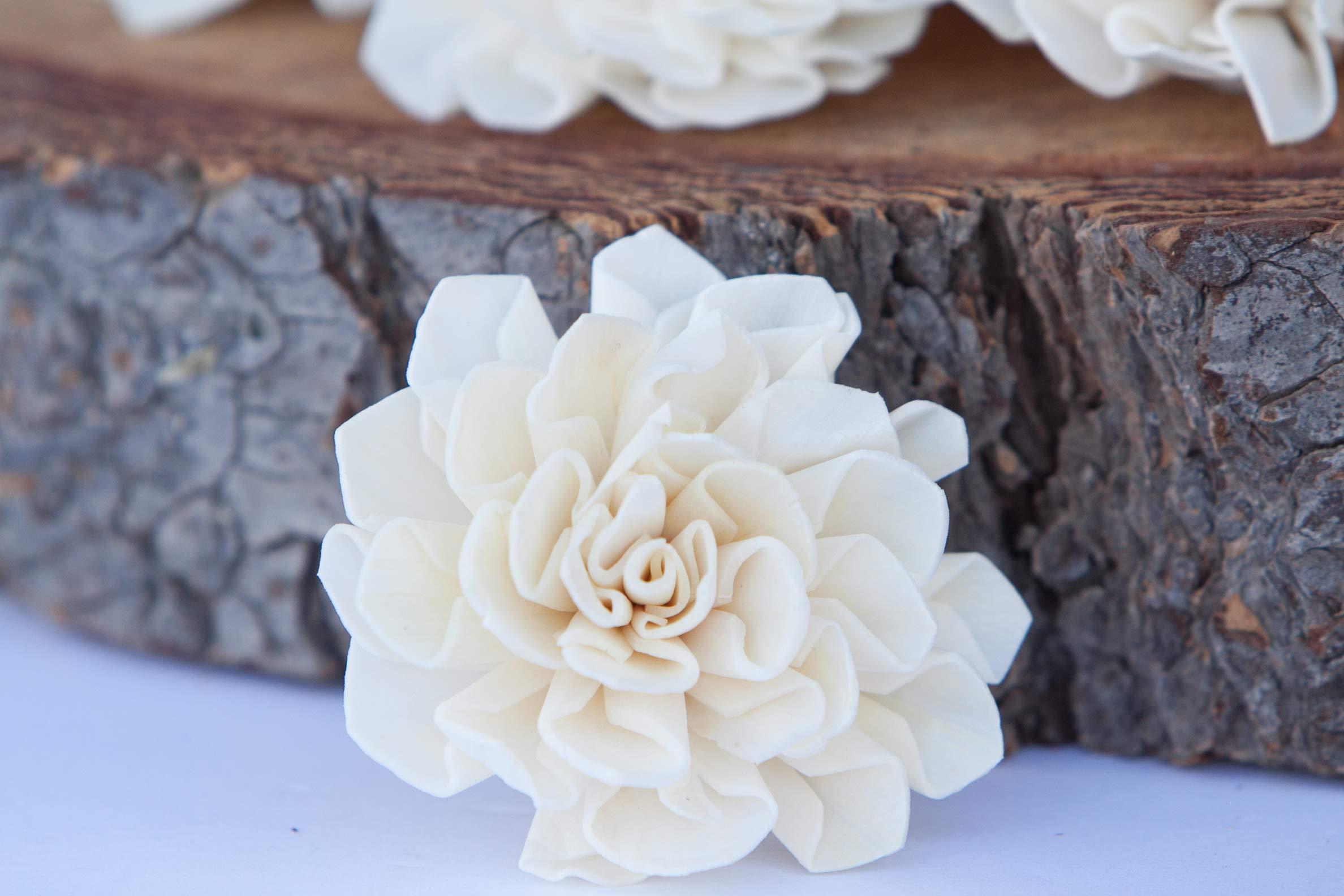 "silk flower arrangements bloem, inc. dahlia sola flowers, 2"" size, set of 10"