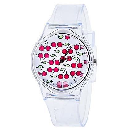 Longra Reloj Jalea de Gel de Silicona de Cuarzo analógico Deportes Mujeres Reloj de Pulsera