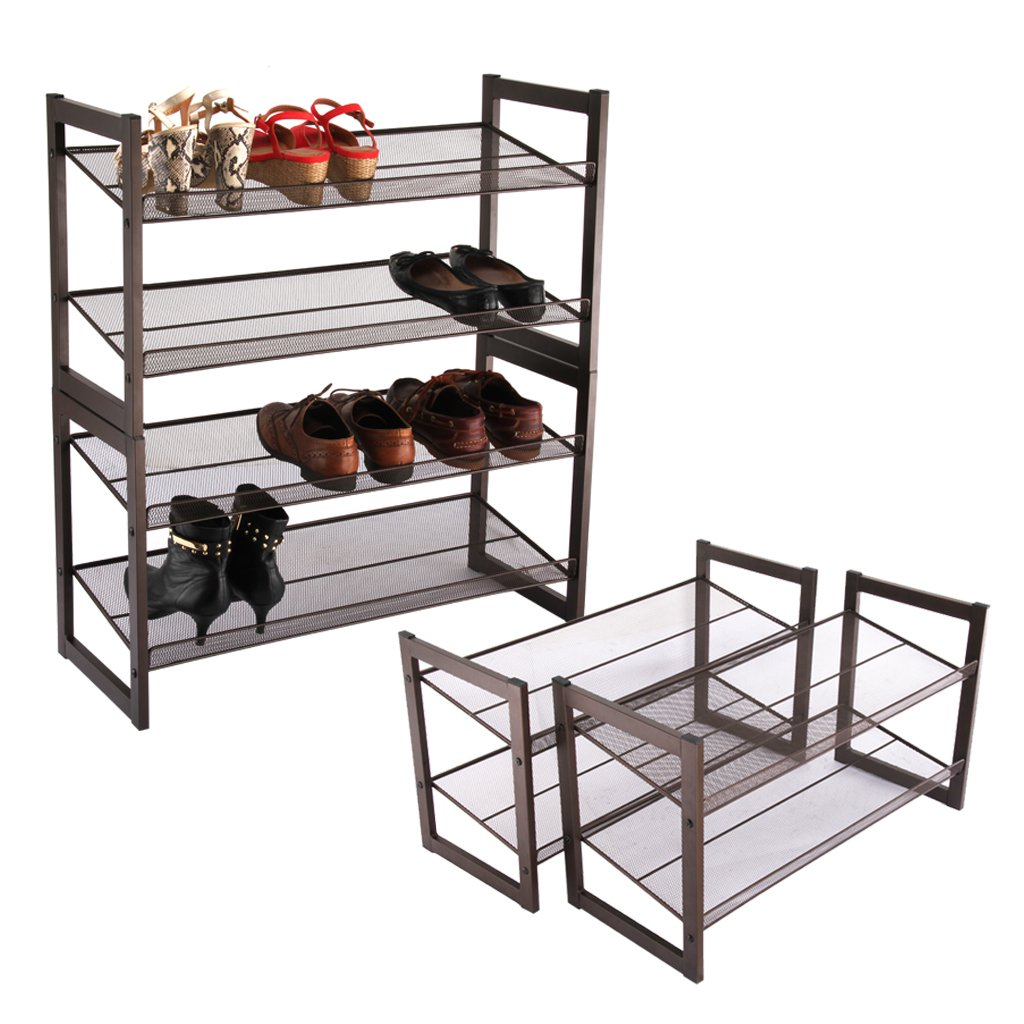 Wire Mesh Black Shoe Storage