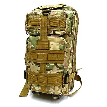 DIXIYZA militar mochila táctica pequeñas mochilas senderismo bolsa exterior trekking camping táctico Molle Pack hombres combate táctico bolsa de viaje (CP ...
