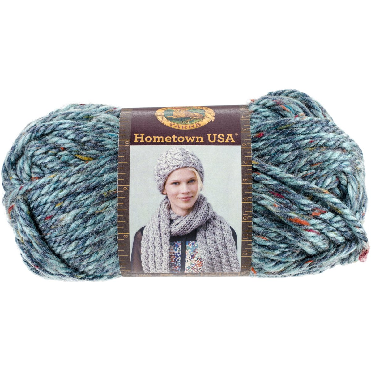 Amazon.com: Lion Brand Yarn 135-308 Hometown USA Yarn, Key Largo Tweed