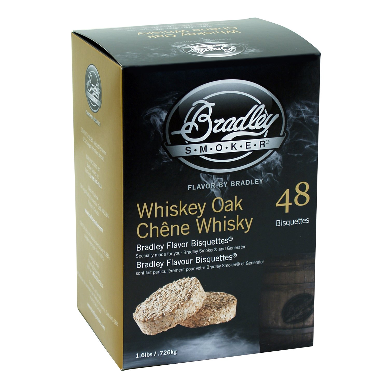 Bradley Technologies Whiskey Oak Special Edition Bisquettes (Pack of 48) by Bradley Smoker