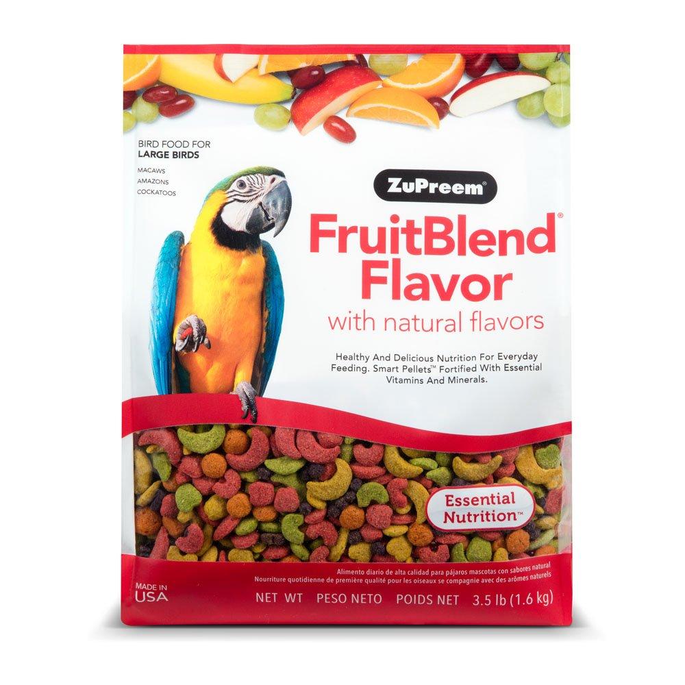 amazon com zupreem fruit blend diet for large birds 3 5 pound