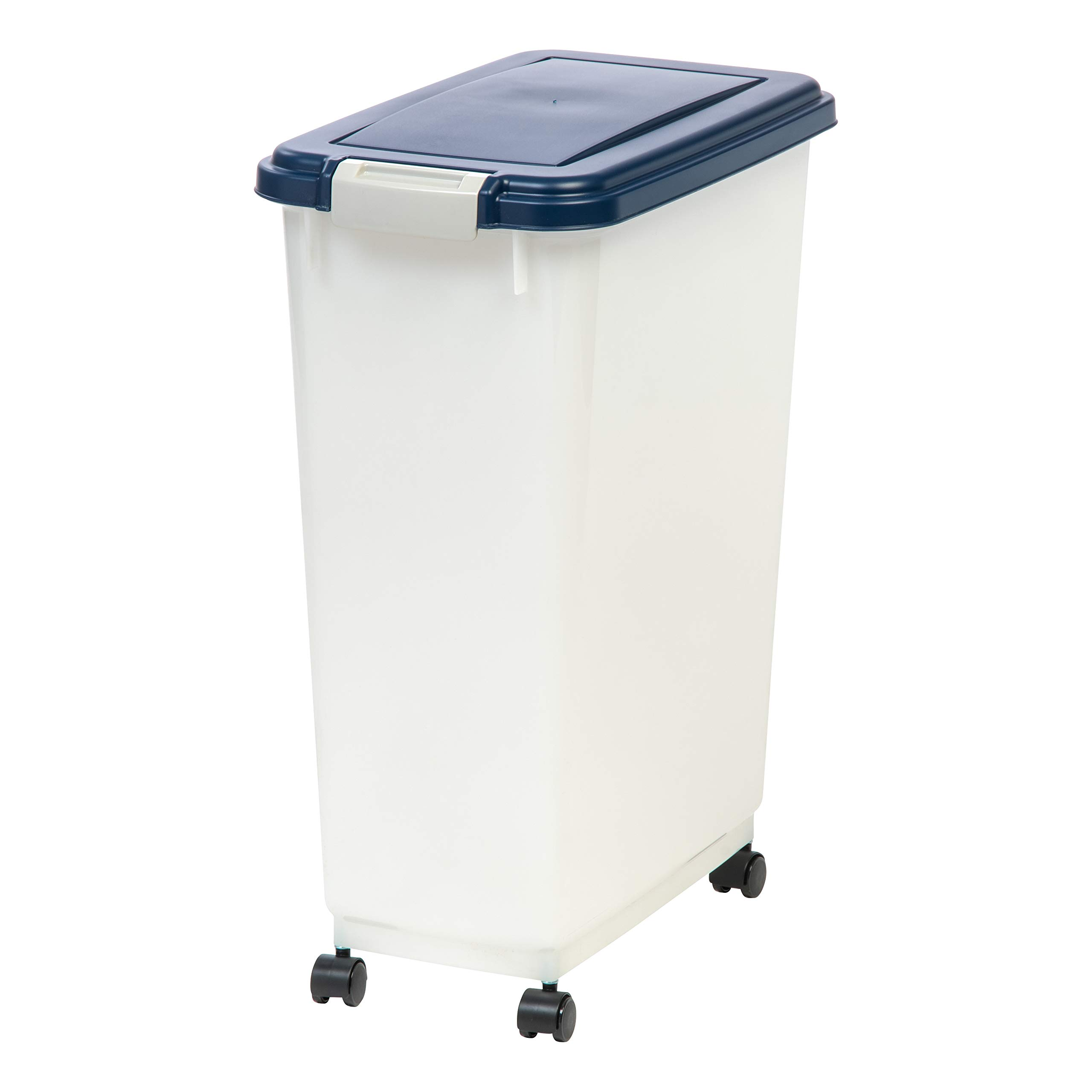 IRIS 47 Quart Airtight Pet Food Container, Navy