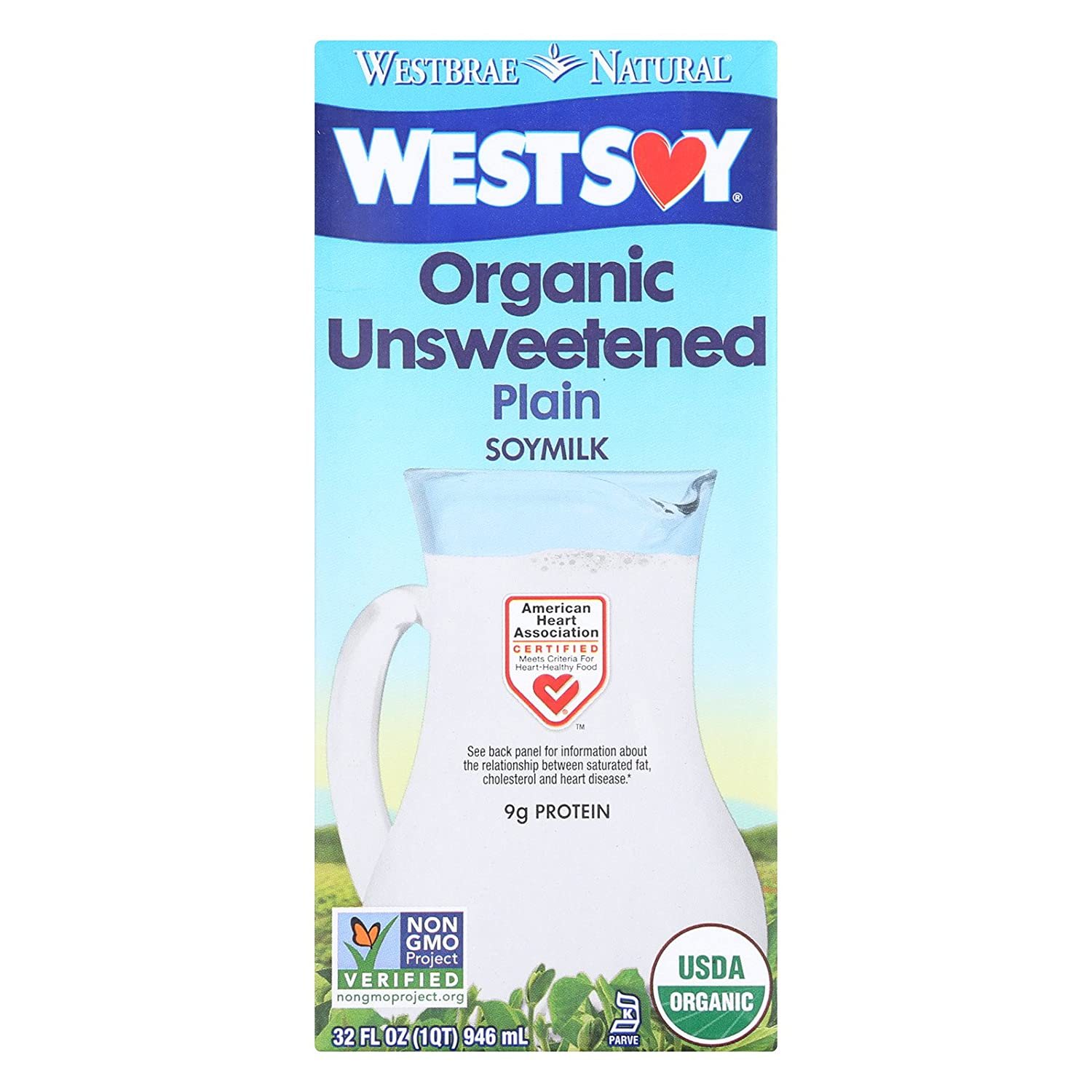 Westsoy Unsweetened Westsoy 32 Oz, Pack of 12