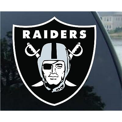 "OAKLAND RAIDERS 8"" Football Vinyl Decal Car Truck Stickers NFL: Automotive"